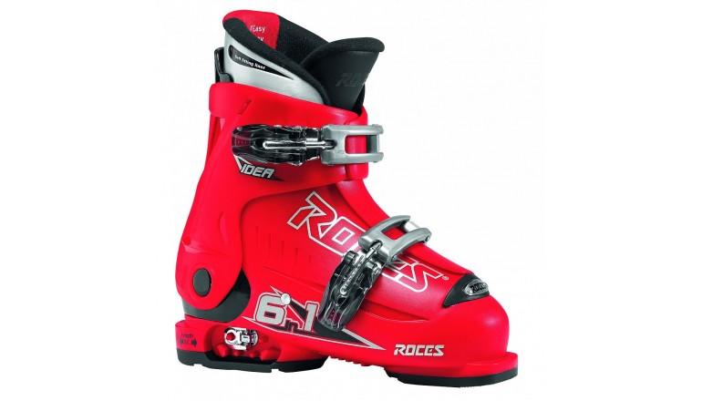 Roces Idea červené - dětské sjezdové boty 6 v 1 - dvě přezky