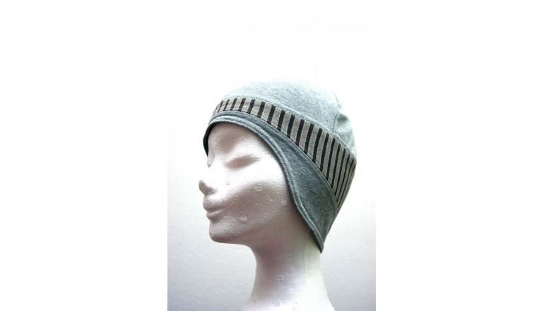Dětská čepice Roli pod helmu vel. 51 - šedo-hnědá