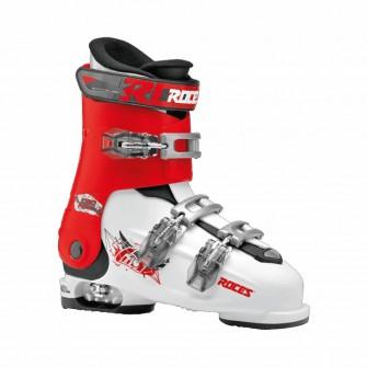 Roces Idea FREE bílo-červené - juniorské sjezdové boty 6 v 1