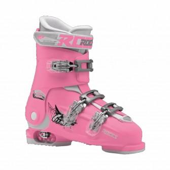 Roces Idea FREE růžovo-bílé - juniorské sjezdové boty 6 v 1