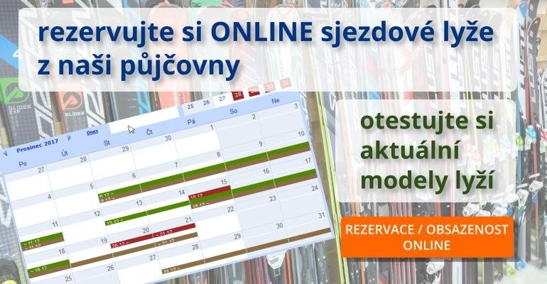 Online rezervace lyží z půjčovny a testcentra Ostrava