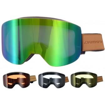 Magnetické brýle Damani GA03 - REVO sklo zelené + rozjasňujíci sklo