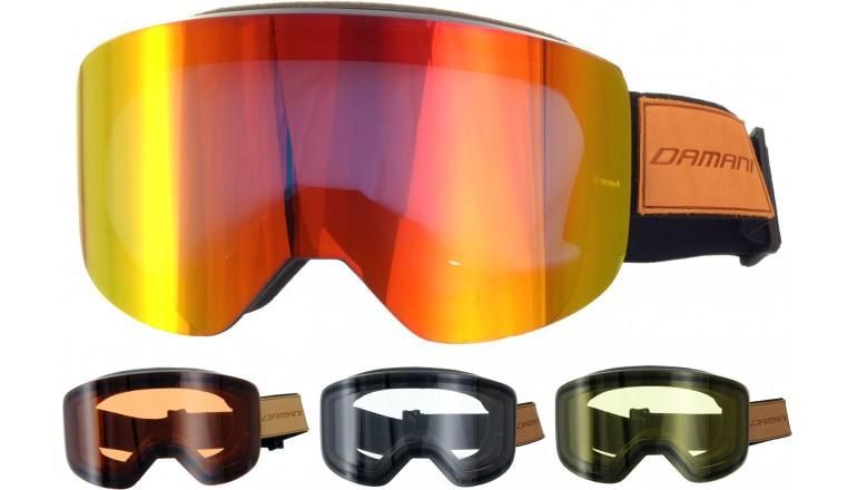 Magnetické brýle Damani GA03 - REVO sklo červené + rozjasňujíci sklo