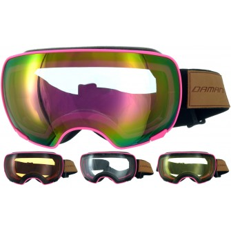 Magnetické brýle Damani GA04 růžové - REVO sklo růžové + rozjasňujíci sklo