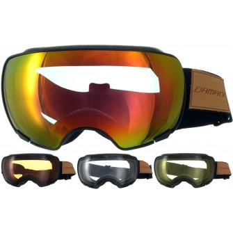 Magnetické brýle Damani GA04 černé - REVO sklo červené + rozjasňujíci sklo