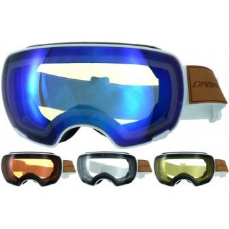Magnetické brýle Damani GA04 bilé - REVO sklo modré + rozjasňujíci sklo