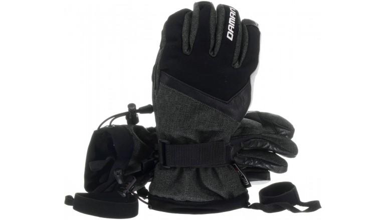 Lyžařské rukavice Damani R04 s koženou dlaní