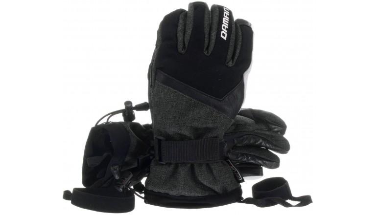 Lyžařské rukavice Damani R04 s koženou dlaní - dlouhý rukáv