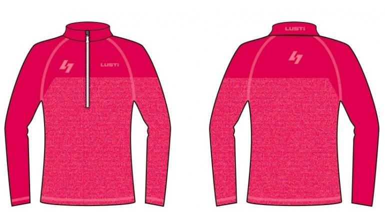 Zateplené lyžařské triko Lusti Flap - pink