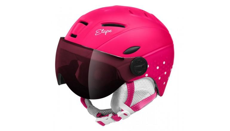 Dětská helma Etape Rider PRO - růžovo/bílá mat