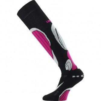 Sjezdové ponožky Lasting SBP (-35 až 5°C) - černo-růžové
